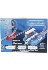 Circuit Train avec Looping 148x62x41 cm