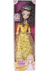 Bambola Principessa Ana Vestito color Oro 75 cm