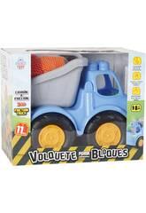 Camion Benne à Friction avec 11 Briques 26x32x19cm