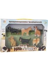 Figuras Set Perros de Raza 6 Unidades 6cm