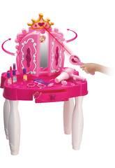 Tocador Belleza Princesa Corazones Con Accesorios y Conexión MP3 71x49x29cm