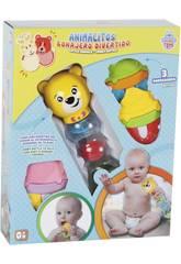 Juguete Para Bebé Set Sonajeto y 3 Mordedores Surtido 22x7x7cm 0-4 años