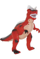 Dinosaure qui marche Rouge 36 cm