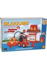 Jeu de Constructions Pompiers Contre le Feu Blocs 30 Pièces