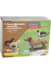 Figura Animal Pastor Alemán Para Pintar con Accesorios 16x24x4.5cm