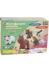 Figurine Animal Vache à Peindre avec Accessoires 12 x 17 x 8 cm