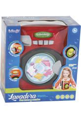 Machine à Laver avec Lumières et Sons Rouge 20 X 16 X 10 cm
