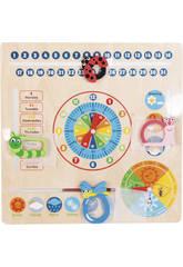 Orologio Calendario di Legno 30.5x30.5x2cm