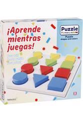 Puzzle en Bois Formes 12 Pièces 20x20x1,5 cm