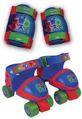 PJ Mask Patines 4 Ruedas + Protecciones Talla Ajustable 24-29 D´Arpeje 0PJM019