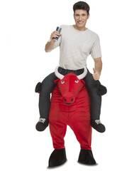 Déguisement Homme L Ride On Toro Rouge