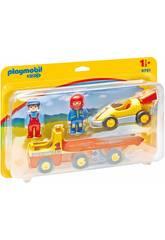 Playmobil 1.2.3 Carro de Corridas com Motorista e Camião 6761