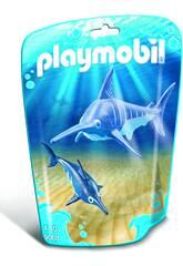 Playmobil Pesce Spada con Cucciolo Blu 9068