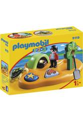 Playmobil 1,2,3 Isla Pirata 9119