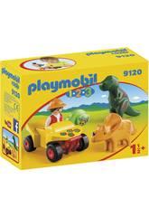 Playmobil 1,2,3 Quad Mit 2 Dinosaurier 9120