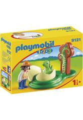 Playmobil 1.2.3 Ragazza e Uovo di Dinosauro 9121