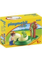 Playmobil 1,2,3 Huevo De Dinosaurio 9121
