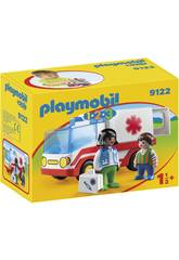 Playmobil 1,2,3 Ambulancia 9122