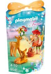 Playmobil Niña Hada Con Ciervos 9141
