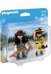 Playmobil Doppel Pack Ranger und Wilderer 9217