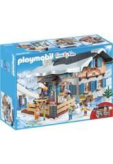 Playmobil Chalet avec Skieurs 9280