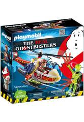 Playmobil Cazafantasmas Venkman con Helicóptero 9385