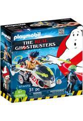 Playmobil Ghostbuster Stanz Mit fliegendes Motorrad 9388
