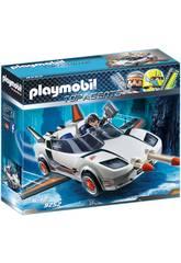 Playmobil Top Agents Veicolo Spia con Agente P 9252