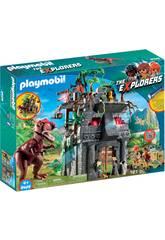 Playmobil Campamento Base Con T-Rex 9429