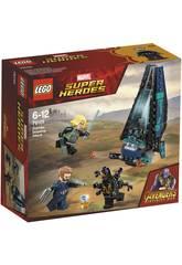 Lego Super Héros Attaque du navire de la Outriders 76101