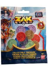 Zak Storm Tesoro da Collezione Pack 4 Monete Bandai 41500