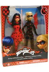 Pack 2 pupée Ladybug y Antibug 27cm Bandai 39812