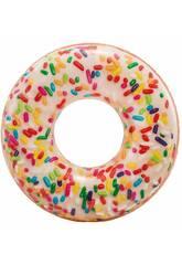 Aufblasbarer Schwimmreifen Weißer Donut von 114 cm Intex 56263