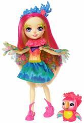 Enchantimals Peeki il Pappagallo Bambola e Cucciolo Mattel FJJ21