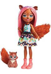 Enchantimals Muñeca y Mascota Sancha Ardilla Mattel FMT61