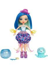 Enchantimals Jessa la Medusa Cambia Colore e Cucciolo del Mare Mattel FKV57