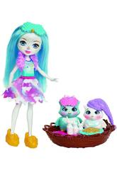 Enchantimals Playset Pigiama Party Ohana La Gufetta Mattel FCG78