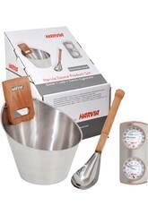 Kit Sauna: Secchiello, Cucchiaio, Igrometro e Termometro