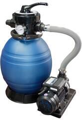 Kläranlage Monobloc 600 Sandfilter mit Pumpe von 1,5 PS QP 565096
