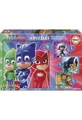 Puzzle PJ Masks Progresivos 6-9-12-16 Educa 17731