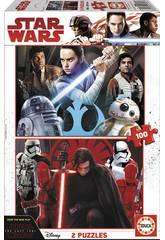 Puzzle 2x100 Star Wars Episodio VIII Los Últimos Jedi Educa 17462