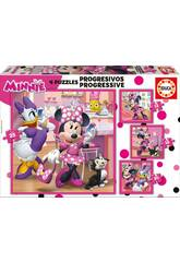 Puzzle Progresivos 12-16-20-25 Minnie Happy Helpers Educa 17630