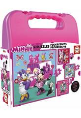 Puzzle progressive Minnie 12-16-20-25 mit Koffer