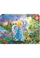 Puzzle 1000 La Princesse et la Licorne Educa 17654