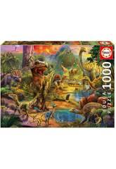 Puzzle 1000 Land der Dinosaurier Educa 17655