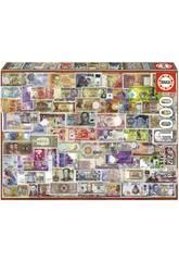 Puzzle 1000 Billetes Del Mundo Educa 17659
