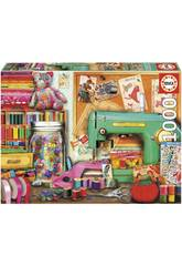 Puzzle 1000 Örtchen zum Nähen Educa 17660