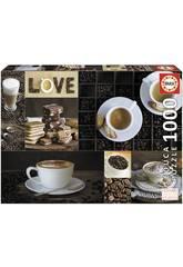 Quebra-cabeça 1000 Café Educa 17663