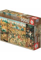 Puzzle 9.000 El Jardín De Las Delicias Educa 14831
