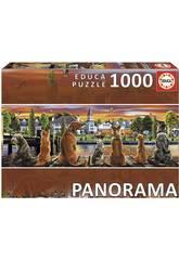 Quebra-cabeça 1000 Cãos no Cais Panorama Educa 17689